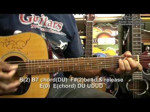 Johnny Cash HOME OF THE BLUES Acoustic Folk CHORDS Guitar Lesson EricBlackmonMusicHD YouTube