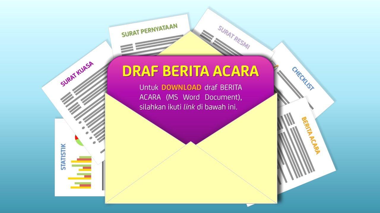 Download Draf Berita Acara Youtube