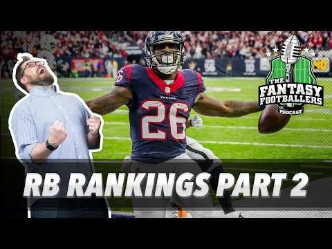 Fantasy Football 2017 - RB Rankings Pt. 2 + Sleepers - Ep. #410