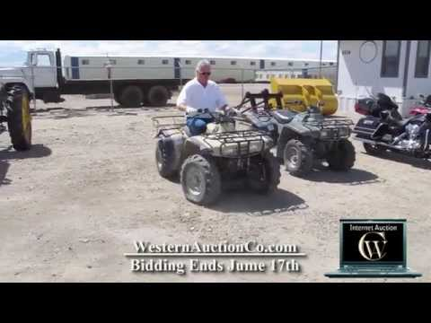 ATV Honda For Sale At Auction!