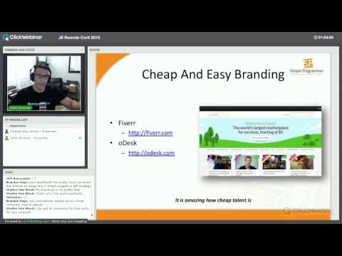 Marketing Yourself to Boost Your Career - John Sonmez - JS Remote Conf 2015