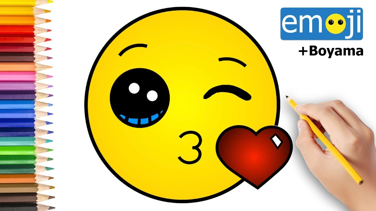 Kalpli Opucuk Gonderen Emoji Nasil Cizilir Karakalem Cizim