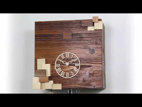 kuckucksuhr modern cuckoo clock modern 64148 youtube. Black Bedroom Furniture Sets. Home Design Ideas