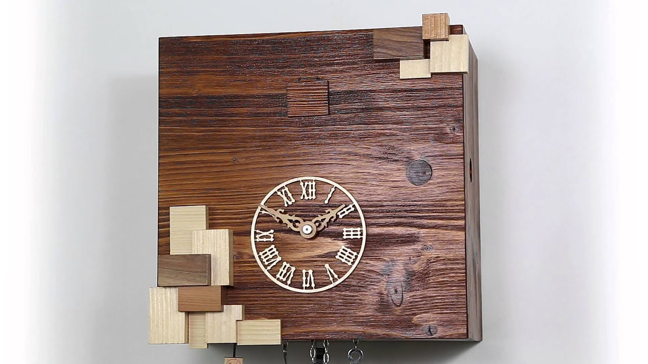 kuckucksuhr modern cuckoo clock modern 64148 youtube. Black Bedroom Furniture Sets. Home Design Ideas