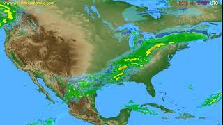 Radar forecast USA & Canada // modelrun: 12h UTC 2019-11-11