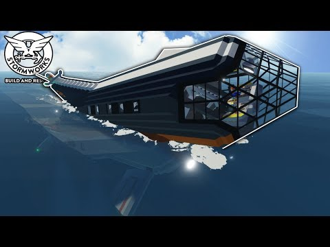 DEEP WATER SUB CRASHES INTO OCEAN FLOOR - Stormworks Gameplay - Sinking Ship Survival