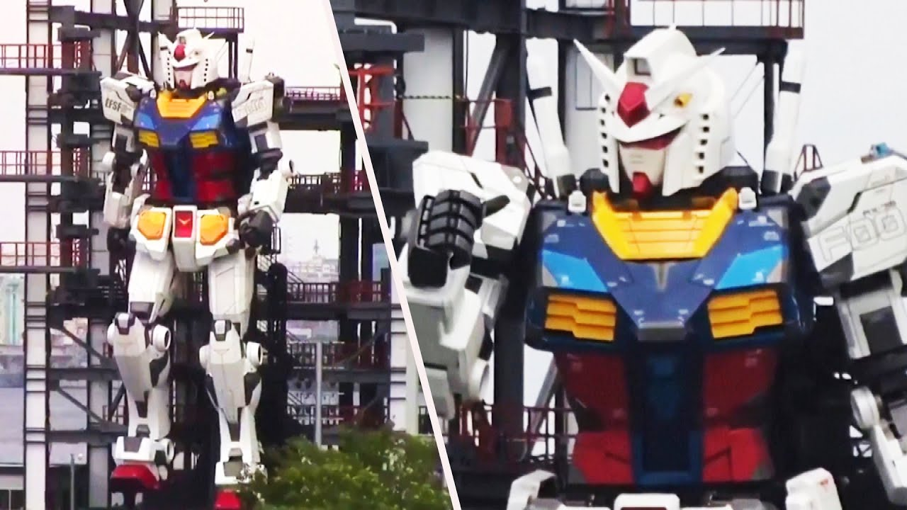 Life-Size 'Gundam' Robot Makes Debut in Japan