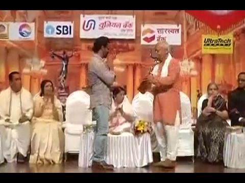 Actor Aamir Khan receives Master Dinanath Mangeshkar Award from RSS chief Mohan Bhagwat