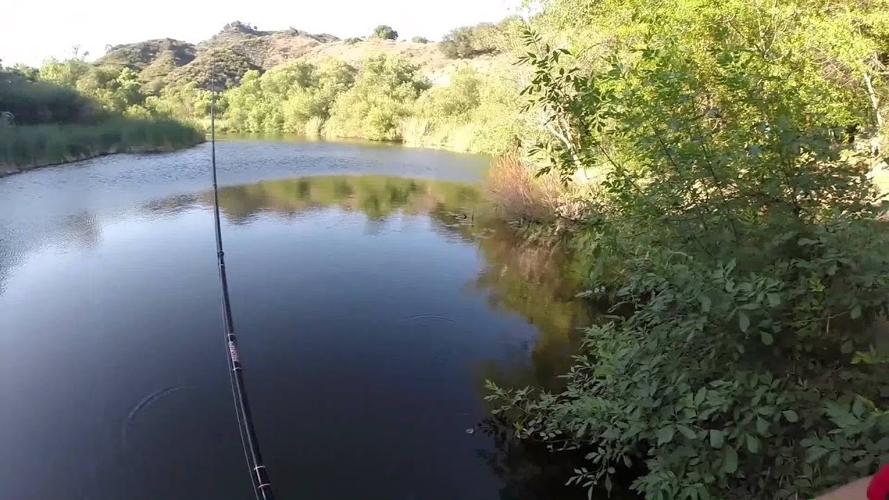 Malibu state park fishing youtube for Canyon lake fishing ca