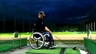 車椅子で ゴルフ ドライバーしてみました!