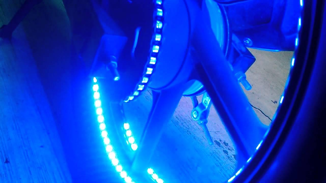 Leds en el rin de moto ft 200 tipo tron youtube - Tipos de luces led ...