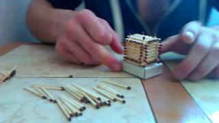 Поделки из спичек | Строим церковь | Урок 1 | Начало