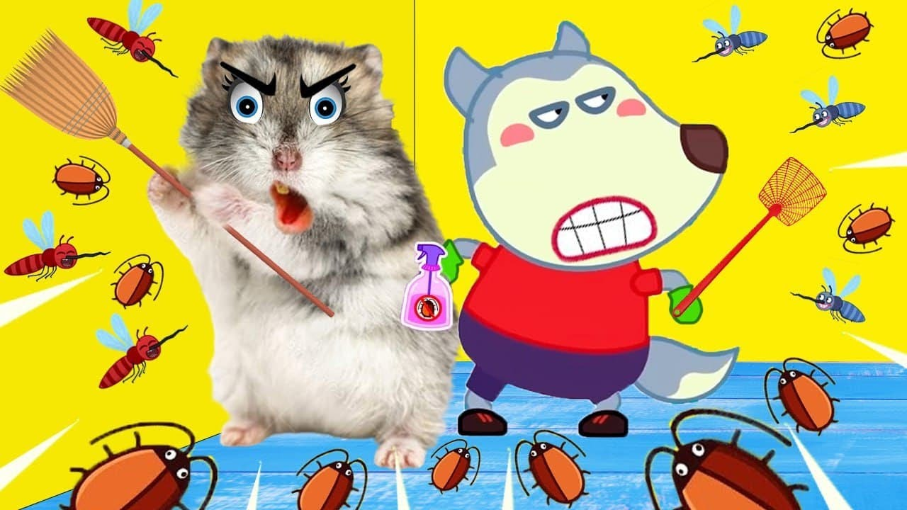 Cockroaches, Go Away! - Hamster vs Wolfoo Against Insects   Wolfoo Hamster Cartoon
