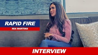 STEREO LOVE SINGER MIA MARTINA LOVES WONDER WOMAN | RAPID FIRE WITH MIA MARTINA