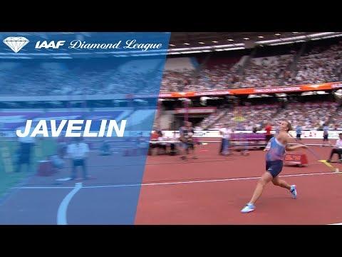 Barbora Spotakova 68.26 to win the Women's Javelin - IAAF Diamond League London 2017