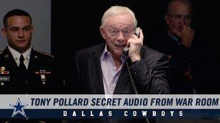 Secret Audio: Listen As The Cowboys Call Tony Pollard In War Room   Dallas Cowboys 2019