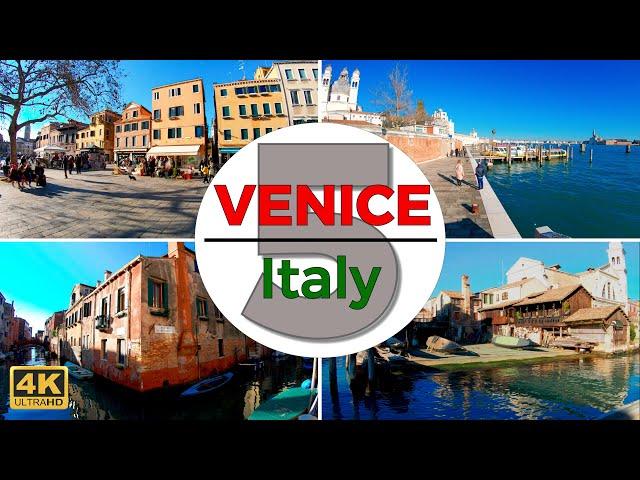 Venice, Italy Walking Tour Part 5 (4K/60fps)