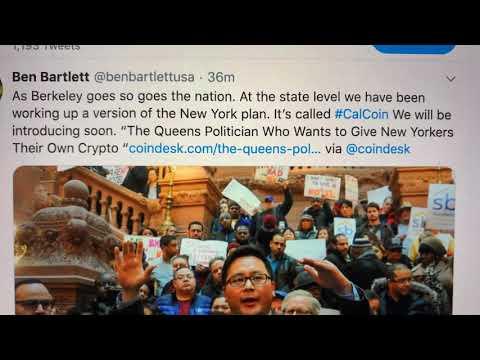 "Ben Bartlett Berkeley Councilmember Says California Will Rollout #CalCoin ""Soon"""