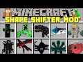 Minecraft SHAPE SHIFTER MOD l MORPH INTO ANY YOUTUBER, PLAYER, MOB! l Minecraft Modded Mini-Game