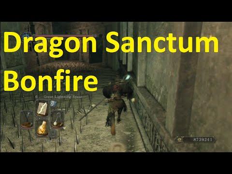 Dragon Sanctum Bonfire Location Dark Souls 2 DLC