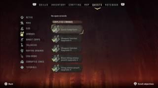 Horizon zero dawn platinum trophy 100% completion (in game progress tracker and check list)