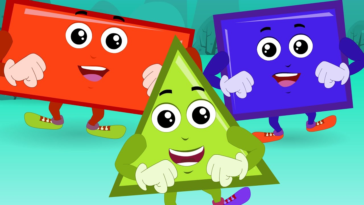 Shapes Song For Children | Nursery Rhymes And Kids Videos For ...