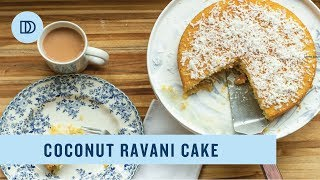 Coconut Ravani: Greek Style Coconut & Semolina Cake with Honey Syrup