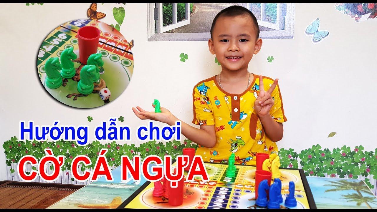 Đồ chơi trẻ em | Hướng dẫn chơi cờ cá ngựa cùng với bé Bon | lego sáng tạo