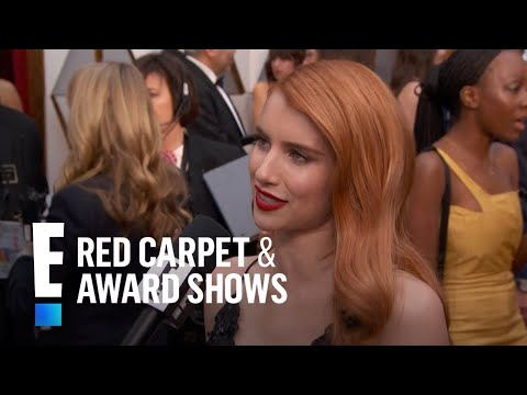 Emma Roberts Gives Shout Out to Aunt Julia Roberts at the 2017 Oscars  E! Live from the Red Carpet