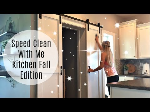 SPEED CLEAN WITH ME | Kitchen Fall Edition