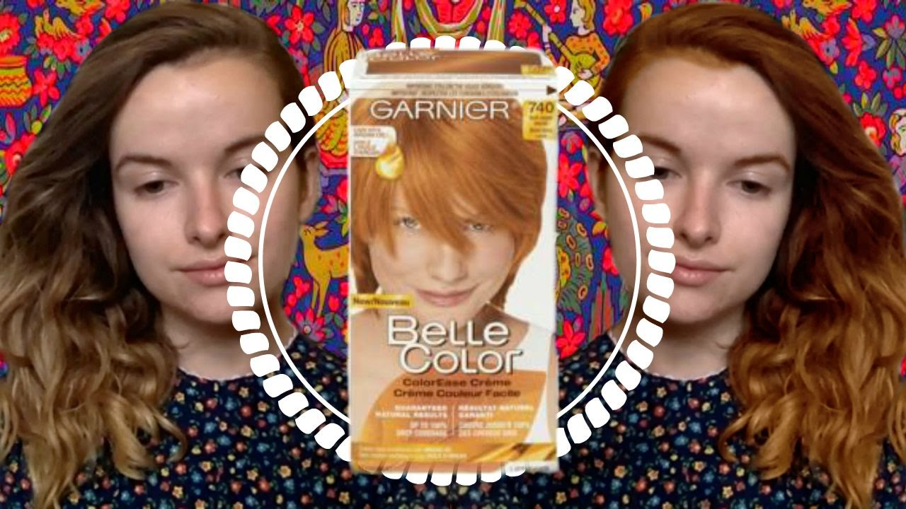 Garnier belle color 73 dark golden blonde dark brown hairs - Belle Color Ease Cream 740 Dark Copper Blonde Review First Time Dyeing Hair At Home Youtube