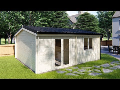 1 Bed Type A Log Cabin 5.9m x 5m - Mycabin.ie