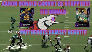 This Card Can NOT BE STOPPED! LTD Aaron Donald & Jalen Ramsey Debut! - Madden 20 Ultimate Team