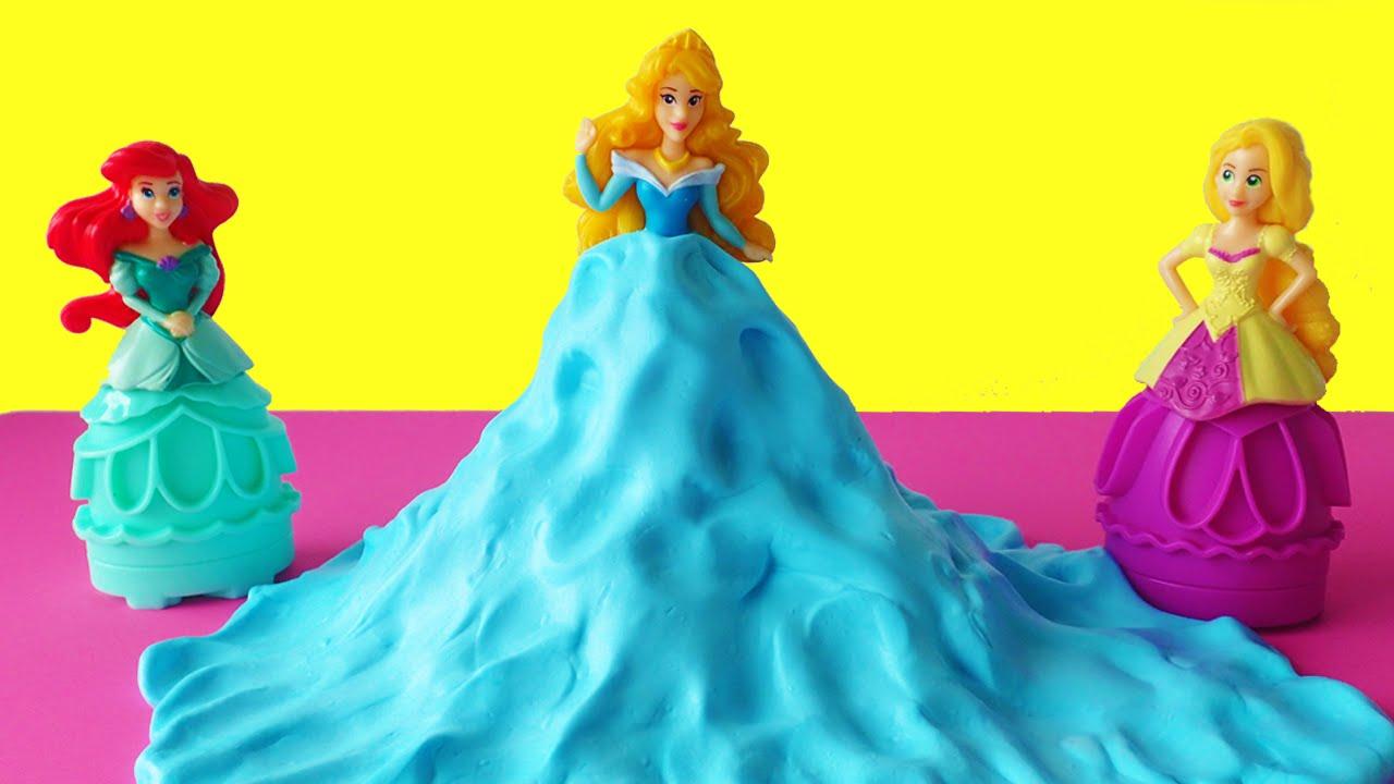 Diy Fluffy Slime Princess Dress! How To Make Slime With Shaving Cream Bum  Bum Surprise Toys