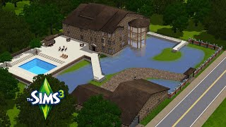 The Sims 3 Speed Building - Ep. 10 - Mansion On The Pond
