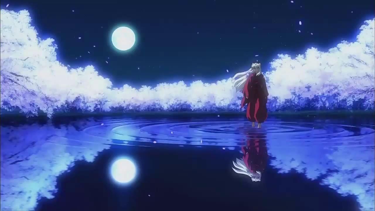 Anime Girl Walking On Moon Wallpaper Beautiful Japanese Music Inuyasha Sad Song Mix