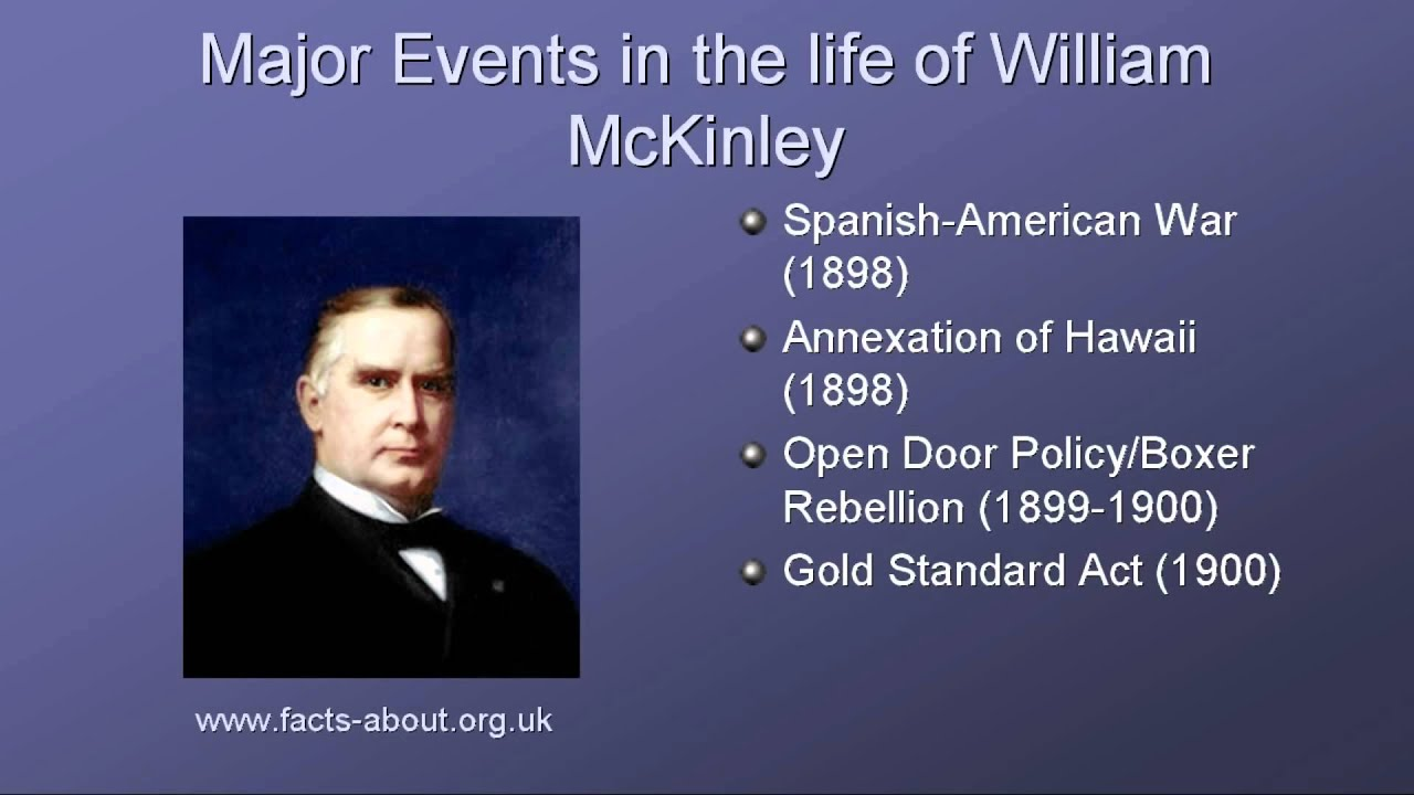 President william mckinley biography youtube for Fun facts about the presidents