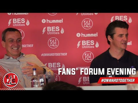 Fans' Forum Evening with Joey Barton | Part One