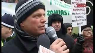 Protest rolników przeciwko wyprzedaży Polskiej ziemi - Szczecin 2012