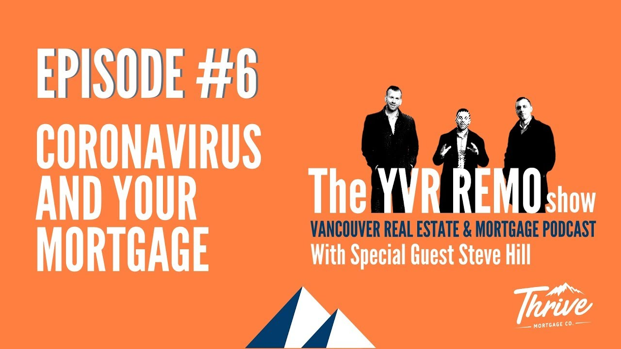YVR REMO Show EP. 06 - Coronavirus And Your Mortgage