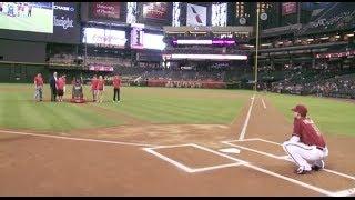 Robot pitches at Arizona Diamondbacks game