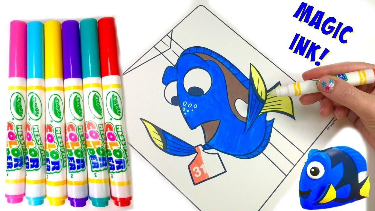 disneys finding dory crayola color wonder coloring book surprise magic ink marker fizzy toy sho youtube - Color Wonder Coloring Books
