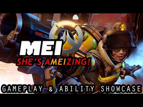 OVERWATCH! SHE'S aMEIzing! MEI Gameplay & Ability Showcase (Full Match Commentary)