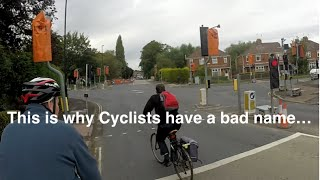 This is why cyclists have a bad name...