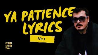 NO 1 - Ya Patience Lyrics