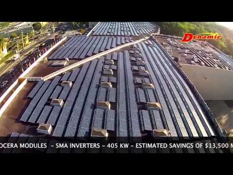 Oscar Cash & Carry - Drone Flight Photovoltaic Panels Installation by Dynamic Solar