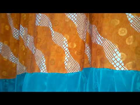 Silk sari curtains