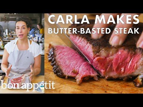 Carla Makes Butter-Basted Steak | From the Test Kitchen | Bon Apptit