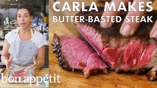carla-makes-butter-basted-steak-from-the-test-kitchen-bon-appétit