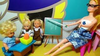 Мультик про кукол. Катя Еви и Тимми на уроке. Всем двойки.